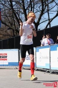 1km przed metą maratonu